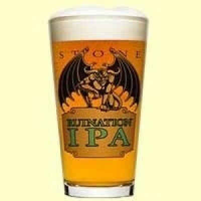 Stone Brewery Ruination IPA Pint Glass   Set of 2 Glasses. Free Delivery