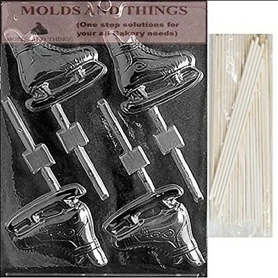 ICE SKATES LOLLY Chocolate Candy Mould With © Moulding Instruction + 50