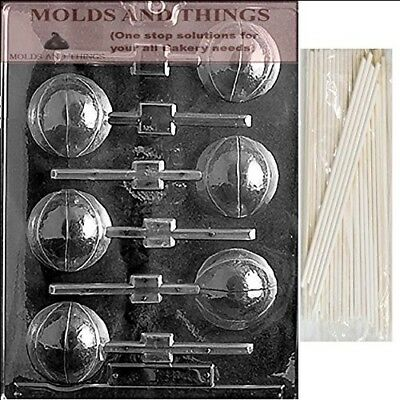 BASKETBALL LOLLY 3D Chocolate Candy Mould With © Moulding Instruction + 50