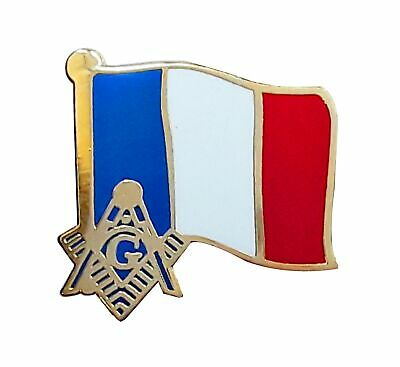 French Masonic Flag Lapel Pin LP 76