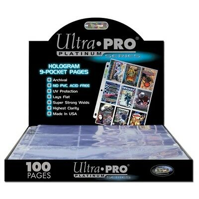 Ultra-Pro 9 Pocket Pages Platinum Series - Box Of 100 - Wholesale/Job Lot