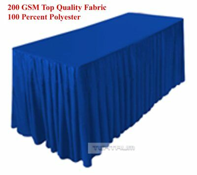 Tektrum 6' FT LONG FITTED TABLE SKIRT COVER FOR TRADE SHOW - ROYAL BLUE COLOR