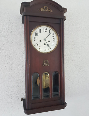 0108 - Antique German Junghans  Westminster chime wall clock