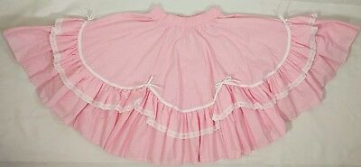 Vintage Partners Please Small Pink Polka Dot Square Dance Poodle Skirt Costume