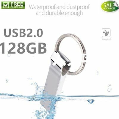 128G USB Flash Drive Waterproof Dustproof External Memory Stick with Key Ring Fn