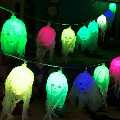 light up led ghost halloween prop hanging party decoration scene setter uk