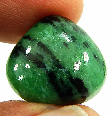 17.35 Ct Natural Ruby Zoisite Loose Gemstone Cabochon Stone - 19424