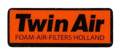 Twin Air Vintage Decal Aufkleber Sticker 90x30mm orange/schwarz