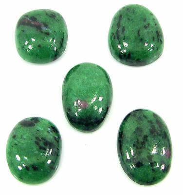 119.70 Ct Natural Ruby Zoisite Loose Gemstone Cabochon Stone Lot of 5 Pcs- 19434