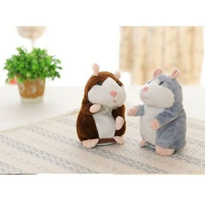 Talking Hamster Electronic Plush Mouse Pet Speak Sound Record Toy for Kid Gift G