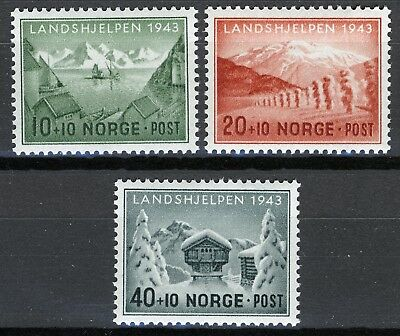 Norway 1943, Surtax set winter relief MNH Sc B32-B34