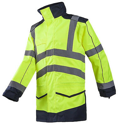 Sioen 166A Anfield Men Rain Jacket Hi-Vis Waterproof Windproof Workwear