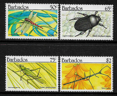Barbados #784-7 Mint Never Hinged Set - Insects