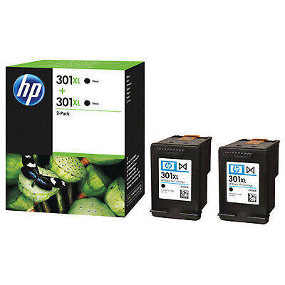 Original D8J45Ae Black  Ink Cartridges Twin Pack For Hp Printers