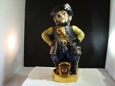 Vintage 1971 Ezra Brooks Heritage China Pirate Empty Decanter