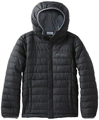 (X-Small, Black) - Columbia Boy's Powder Lite Puffer Jacket. Shipping Included