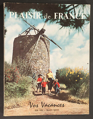 'plaisir De France' French Vintage Magazine Holiday Issue June 1955