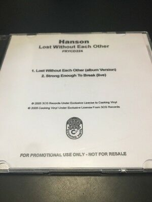 Hanson RARE Lost Without Each Other Early Promo CD