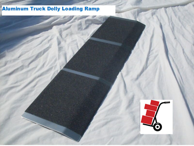 "New Aluminum Cargo Curb Hand Truck Dollie Dolly Loading Ramp 8"" X 30"""
