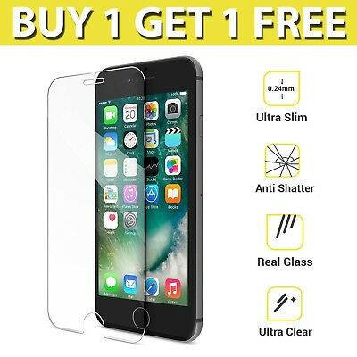 For Apple IPhone 7 - 100% Genuine Tempered Glass Film Screen Protector New X 2