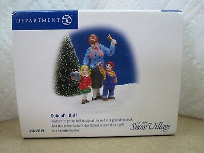 Department 56 School's Out Snow Village New In Box #56.55129
