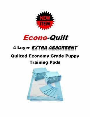 "NEW 17x24""/23x36"" Econo-Quilt 4 Layer EXTRA ABSORBENT Puppy Training PEE Pads"