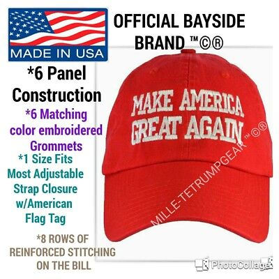 """Made In Usa Offical Donald Trump """"Make America Great Again"""" Authentic Hat Cap"""