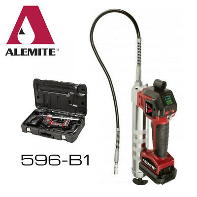 Alemite 596-B1 20-V Li-Ion 2-Speed Cordless Grease Gun Kit w/ LCD NEW w/Warranty