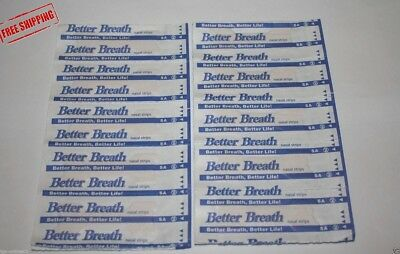 50 Pc Anti-Snore Strips Easier Better Breathe Right Nasal Strips To Stop Snoring