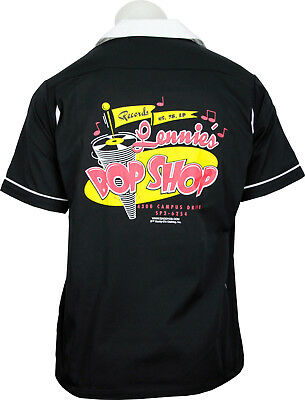 Daddy-O's Lennie's Bop Shop Vintage Inspired Retro Bowling Shirt - New! SM-3X