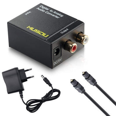 Audio DAC Convertitore Digitale-Analogico Ottico o Coassiale Toslink SPDIF a RCA