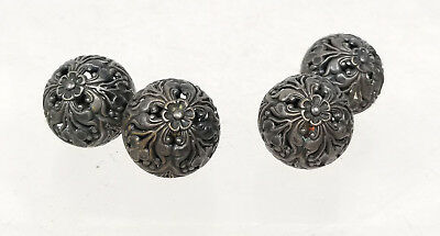 Antique Vintage Silver Plate Brass Bronze Buttons Embroidery Sewing Beads