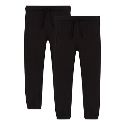 Unisex Boys Girls Kids Jogging Bottoms Pe School Jogger Trousers