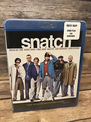 Snatch (Blu-ray Disc, 2009) Brad Pitt Jason Statham Guy Ritchie NEW