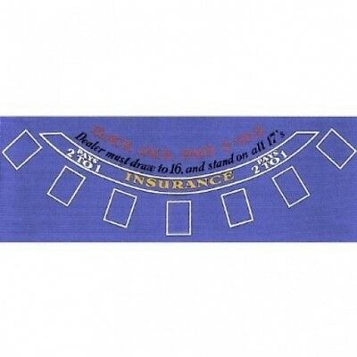 Brybelly Poker Blue Felt Blackjack Layout 90cm x 180cm. Brand New