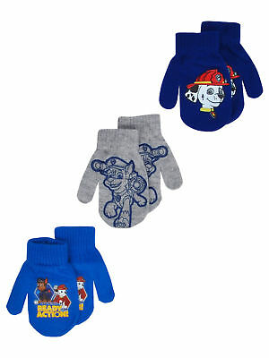 Toddlers Paw Patrol Chase Marshall Gloves Mittens 2T-4T (3-PACK)
