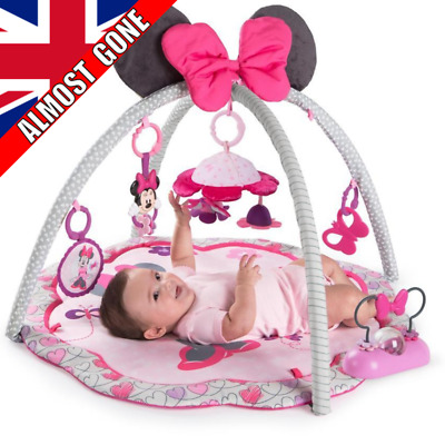 Official Disney Baby Play Mat Girls Soft Floor Lay Gym Fun Pink Minnie Mouse NEW