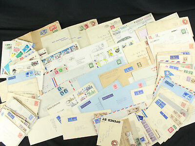 Lot of 105 GB Great Britain Covers All London Cancels w/Airmail, FDC, Embossed++