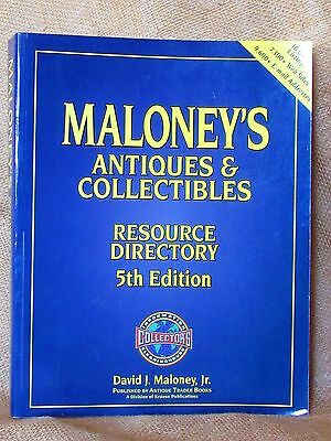 """""""maloneys Antiques And Collectibles Resource Directory"""" Book"""
