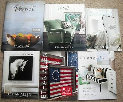 Lot of 6 Ethan Allen Promotion Catalogs~Decorating~Furniture Ideas