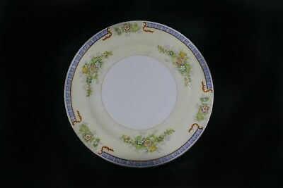 Meito Hand painted Cecil Pattern Dinner Plate Gold Trim Floral Pattern Japan