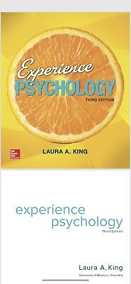 Experience Psychology by Laura A. King. 3rd EditionDIGITAL COPY.READ DESCRIPTION