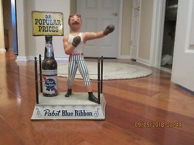 Pabst Blue Ribbon Beer Vintage 1950's Boxer in ring. Rare