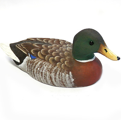 Vintage Mallard Duck Hand Carved & Painted American Wildlife Collection 5.5""