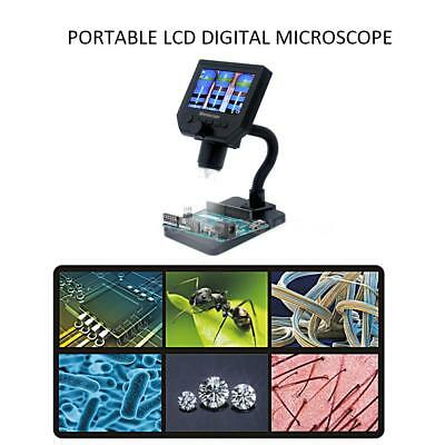 "Digital Microscope 4.3"" HD OLED 3.6MP 1-600X Magnifier G600 Portable 1080P G3K0"
