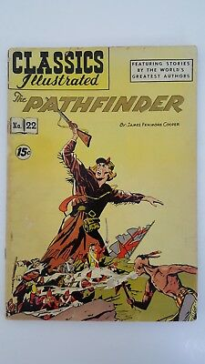 Classic Illustrated The Pathfinder #22 comic book (June 1945, Gilberton) FN/VF