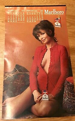 1973 Marlboro Cigarettes Calendar With Female Models