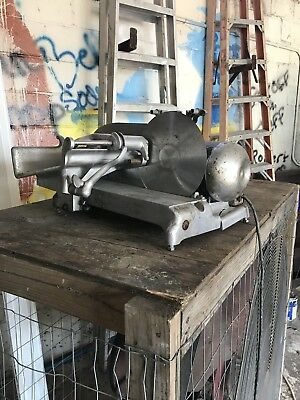 ~Vintage~ Industrial / Commercial Hobart  Hand Meat Slicer Working