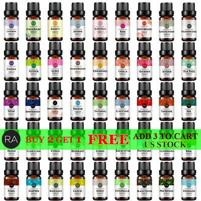 Essential Oils 100% Pure Natural Aromatherapy Therapeutic Oils 10mL For Diffuser