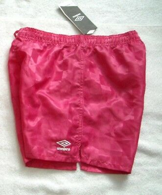 Brand New Umbro Pink Punch Youth Girls Rio Check Short Soccer Shorts Size S